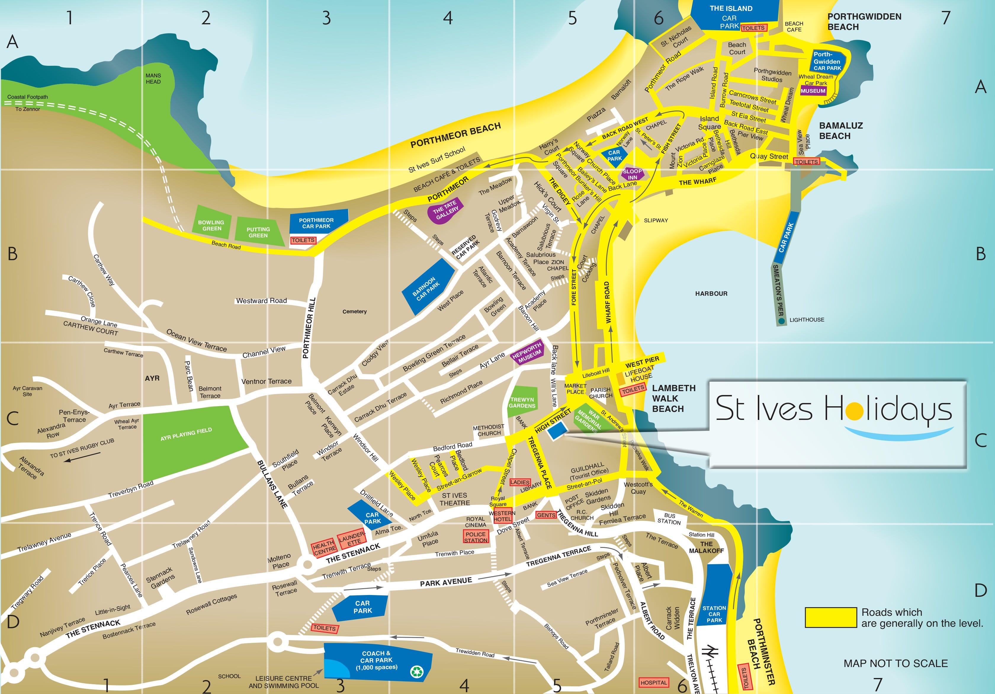 St Ives Town Map
