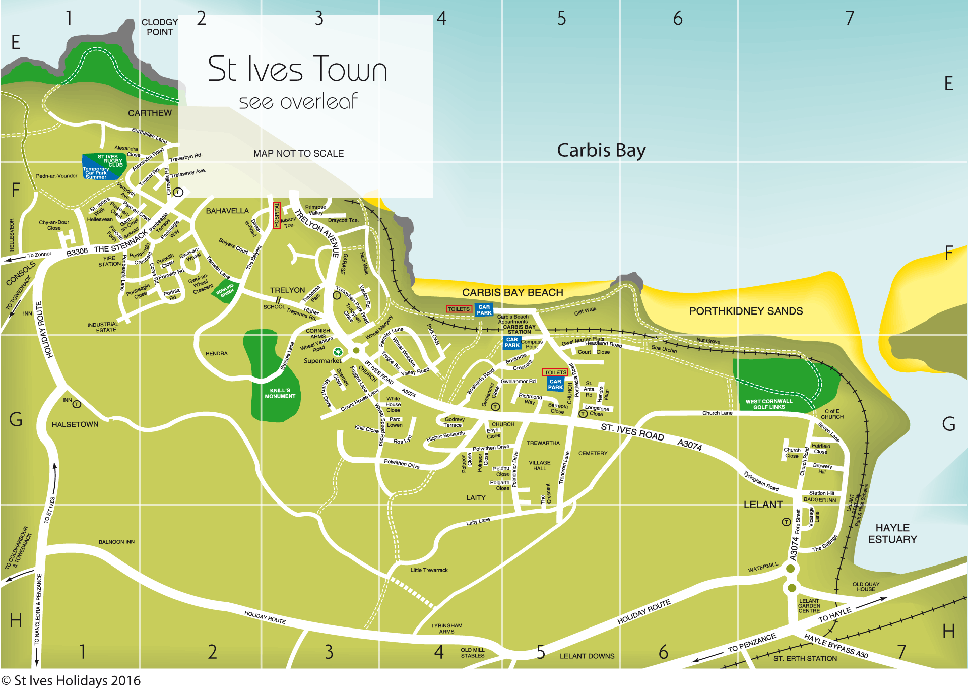 St Ives Area Map