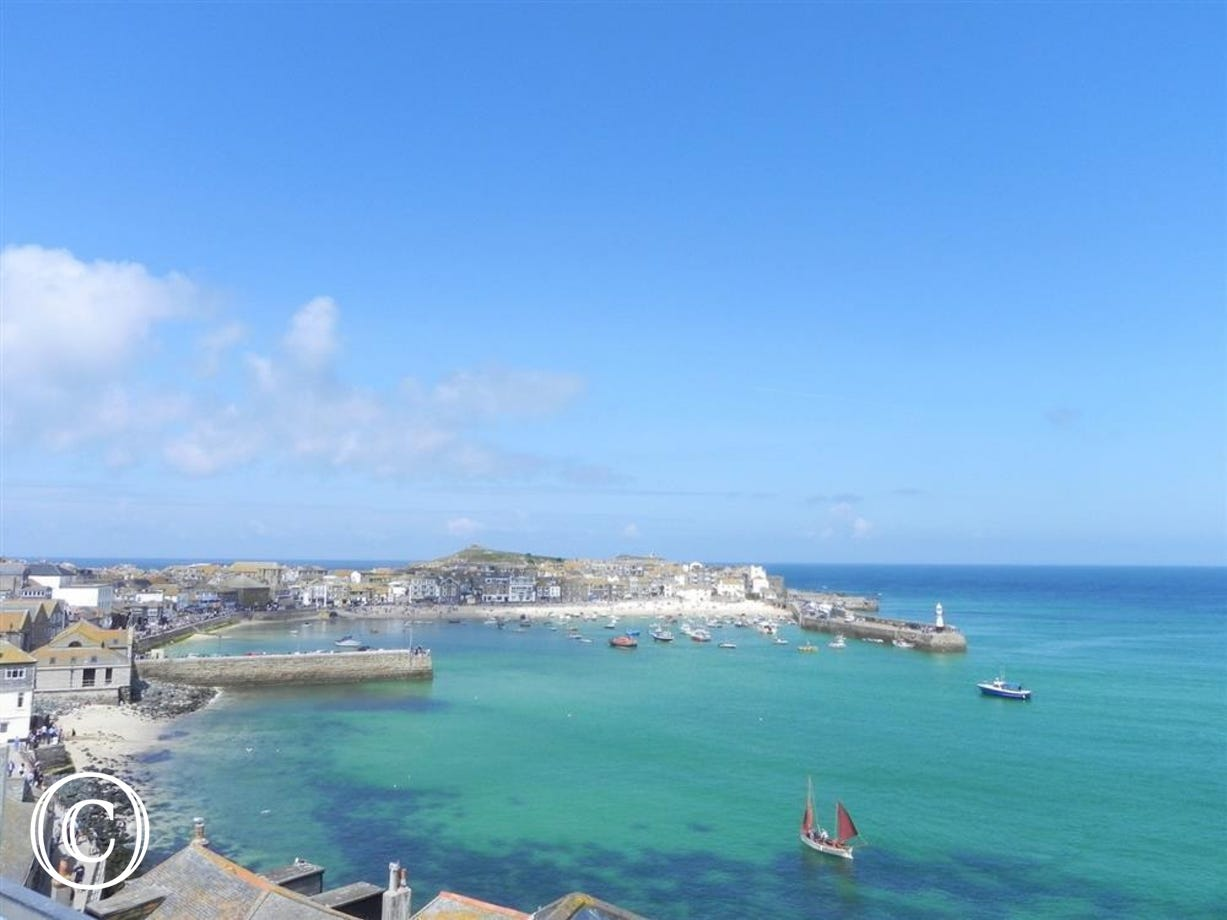 St Ives Harbour taken from The Malakoff.