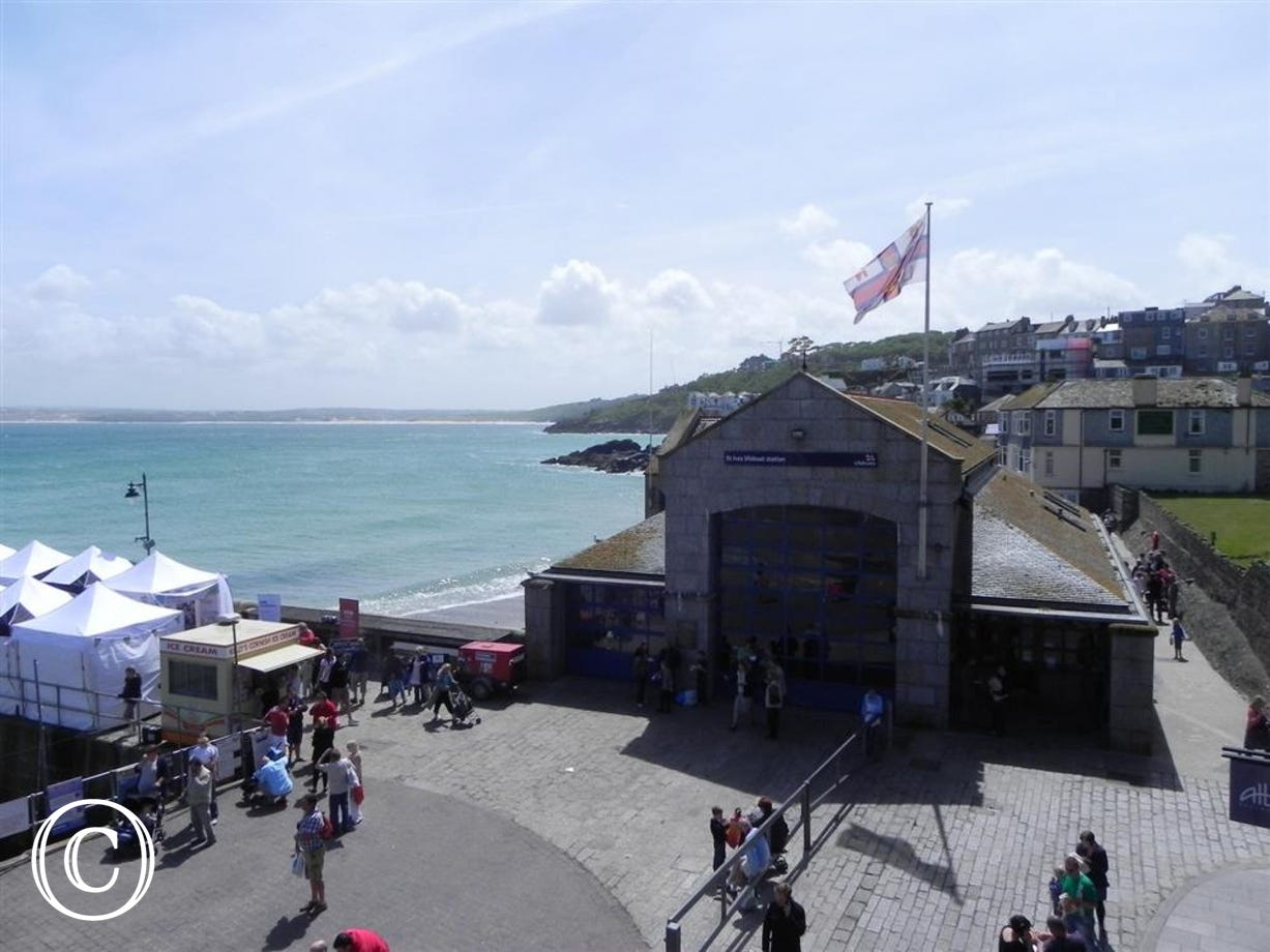 Views of St Ives Lifeboat Station & St Ives Bay