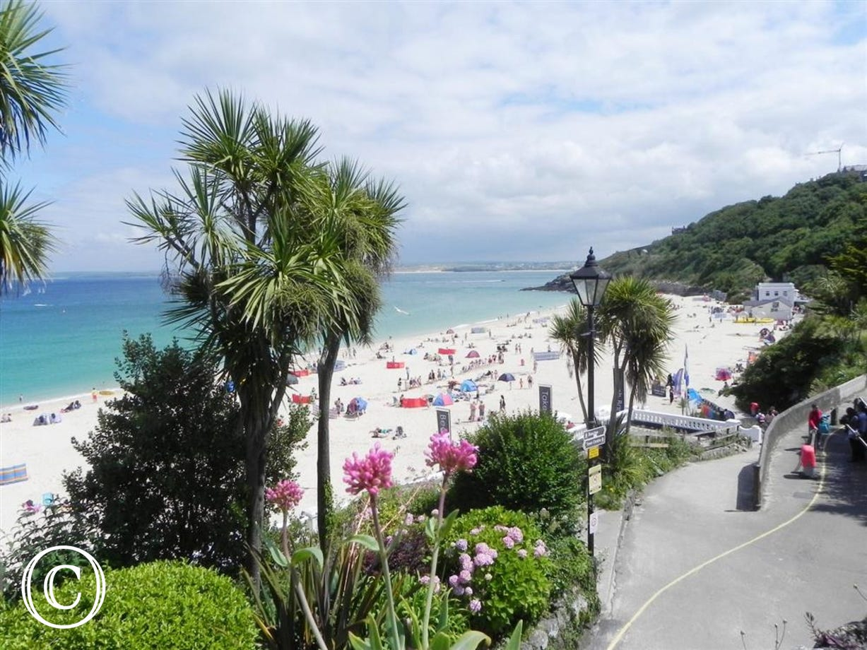 Porthminster Beach just a short walk from Mermaid