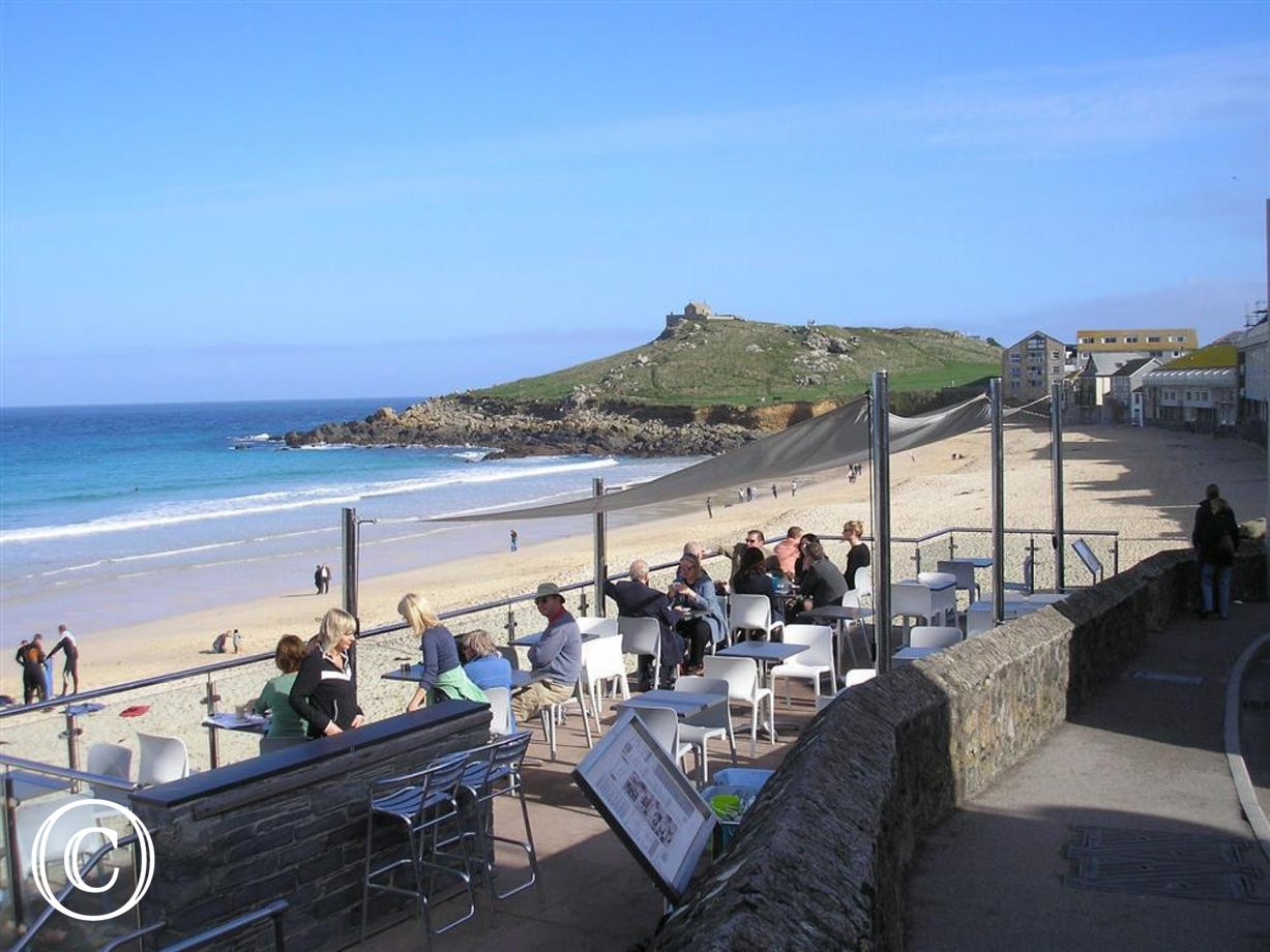 Porthmeor Beach Cafe - Just around the corner from 2 Harrys Court