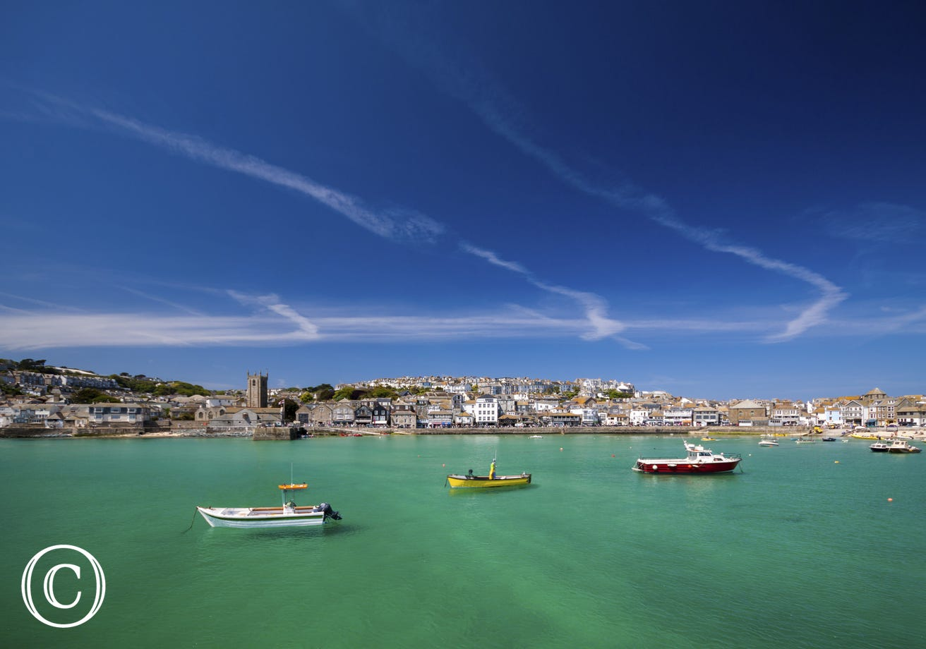 Just a short stroll to St Ives harbour