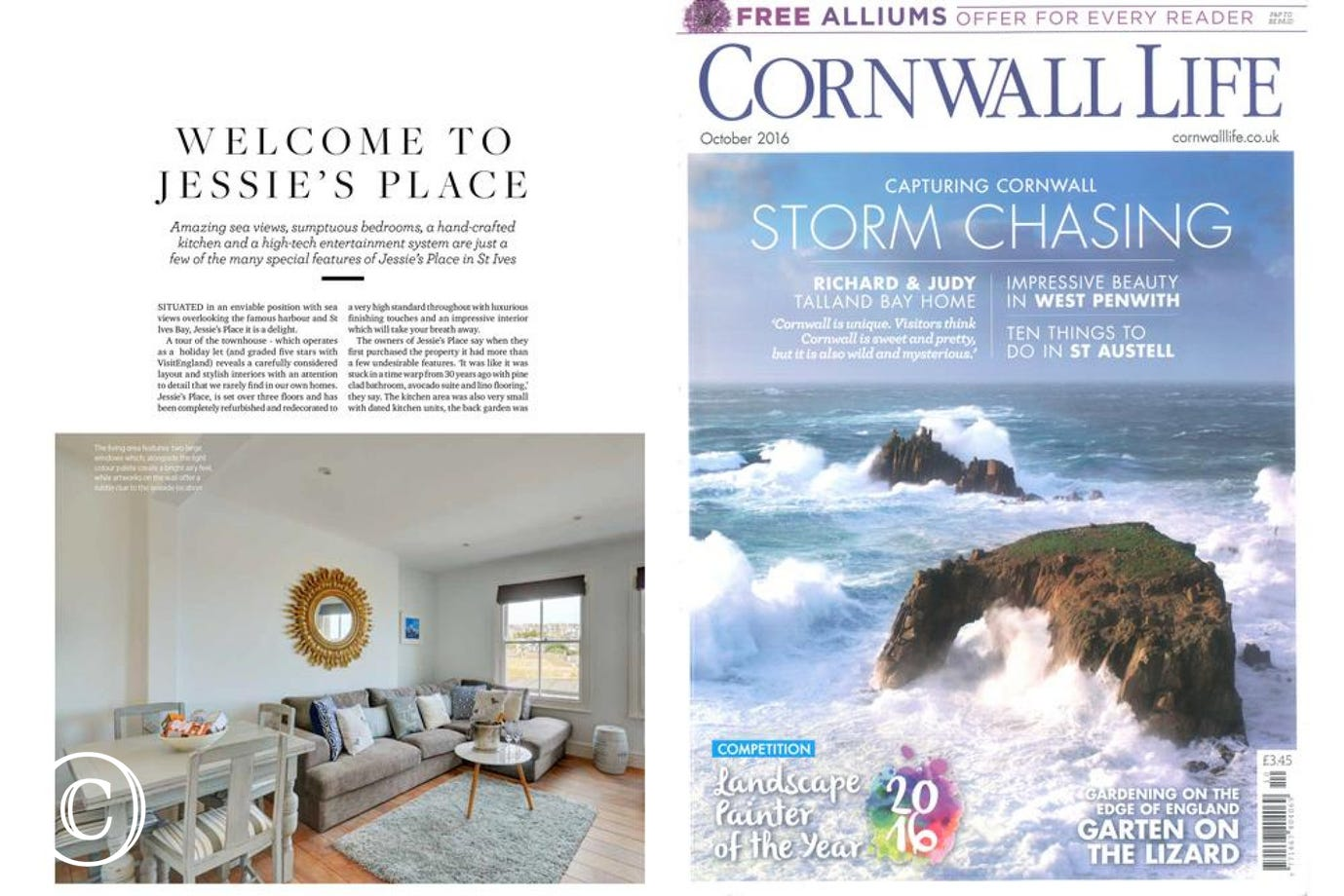 Jessie's Place featured in October's Cornwall Life